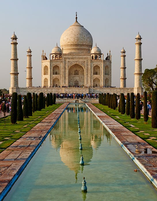 The Taj Mahal - one of the masterpieces which adorn this book