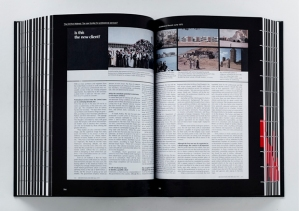 The book contains a wide range of scans of original articles from architecture publications, along with mainstream newspapers and magazines. Above: Architectural Record article about the Middle East as a new client.