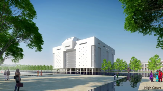 Amaravati Secretariat by Maki (proposed)